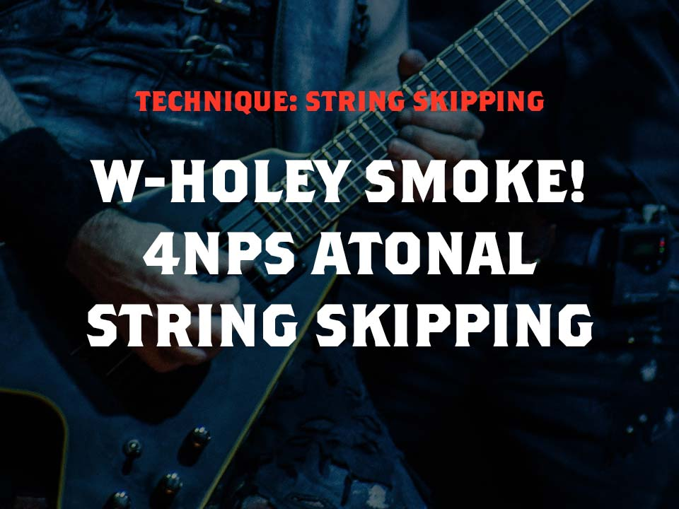 4nps String Skipping Legato Lick Using the Whole Tone Scale